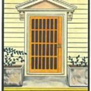 Yellow Door In Panama Art Print