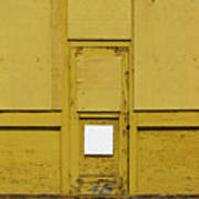 Yellow Door With Accent Art Print