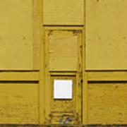 Yellow Door With Accent Art Print