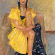 Yellow Dress Art Print by Rita Bentley