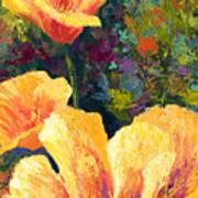 Yellow Field Poppies Art Print