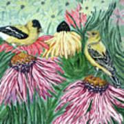 Yellow Finches Art Print