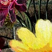 Yellow Floral Art Print