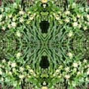 Yellow Flower Mandala 1 Art Print