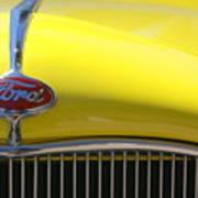 Yellow Ford Art Print