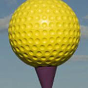 Yellow Golf Ball Art Print