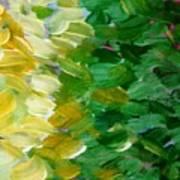 Yellow Green - Abstract Art Print