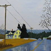 Yellow House In March Art Print