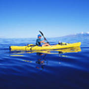 Yellow Kayak Art Print