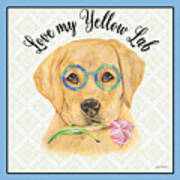 Yellow Lab-jp3869 Art Print