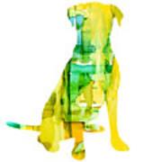 Yellow Lab Art Print