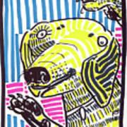 Yellow Lab Art Print by Robert Wolverton Jr