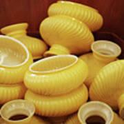 Yellow Lampshades Art Print