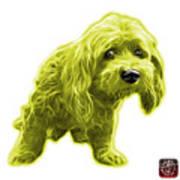 Yellow Lhasa Apso Pop Art - 5331 - Wb Art Print