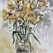 Yellow Lillies Art Print