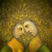 Yellow Lovers Art Print