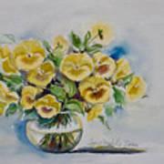 Yellow Pansies Art Print