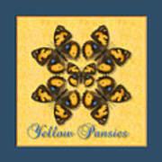 Yellow Pansy Butterfly Wheel Art Print