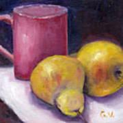 Yellow Pears And Mug Stll Life Grace Venditti  Art Print