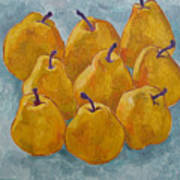 Yellow Pears Art Print