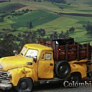 Yellow Pick-up Truck Art Print
