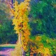 Yellow Reflections Art Print