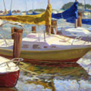 Yellow Sails Art Print