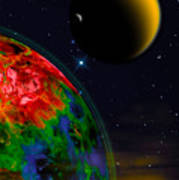 Yellow Sea On Kepler 186d Art Print