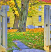Yellow Shaker House Gate Art Print
