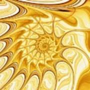 Yellow Shell Art Print