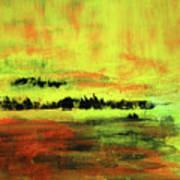 Yellow Sienna Black Art Print