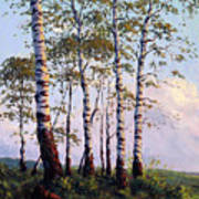 Yellow Stone Sunset Art Print