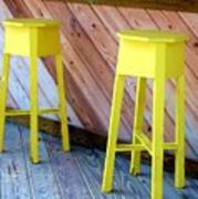 Yellow Stools Art Print