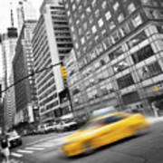 Yellow Taxi Nyc Art Print