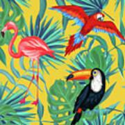 Yellow Tropic  Art Print