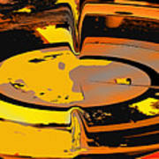 Yellow Vortex Art Print