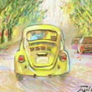 Yellow Vw Art Print