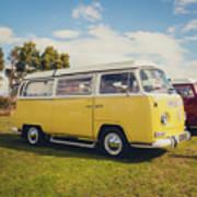 Yellow Vw T2 Camper Van 02 Art Print