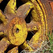 Yellow Wheel Art Print