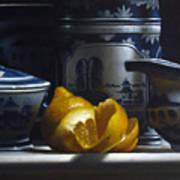 Yellow White Blue Art Print
