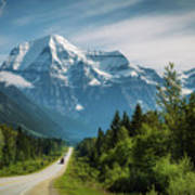 Yellowhead Highway In Mt. Robson Provincial Park, Canada Art Print