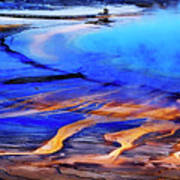 Yellowstone Grand Prismatic Spring Geothermal Water Art Print