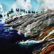 Yellowstone Hot Springs Art Print