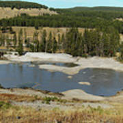 Yellowstone Mineral Ponds Art Print