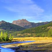 Yellowstone National Park Landscape Art Print