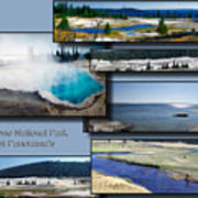 Yellowstone Park August Panoramas Collage Art Print