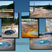 Yellowstone Park Firehole Spring In August Collage Art Print