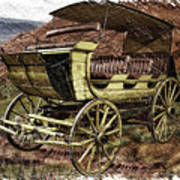 Yellowstone Park Stage Coach With Horses Pa 01 Art Print