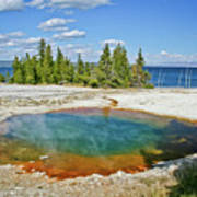 Yellowstone Prismatic Pool Art Print