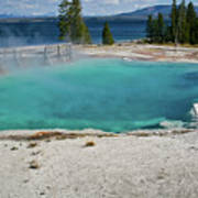 Yellowstone Water Pool Art Print by Brent Parks